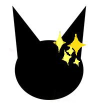 猫顔シルエット